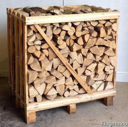 Дрова колотые (дуб,граб,береза,ольха) тех.сушка в ящиках.