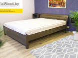 Double and single wood beds made of alder - photo 3