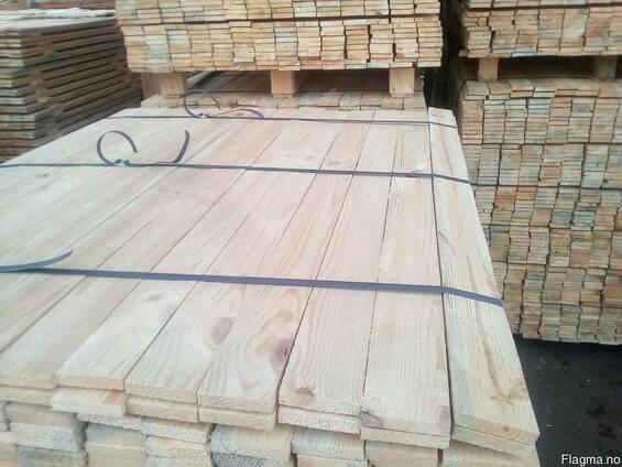 Edged pine timber
