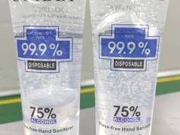 Hand sanitizer without rinsing. Bacteriostatic value 99.9%.